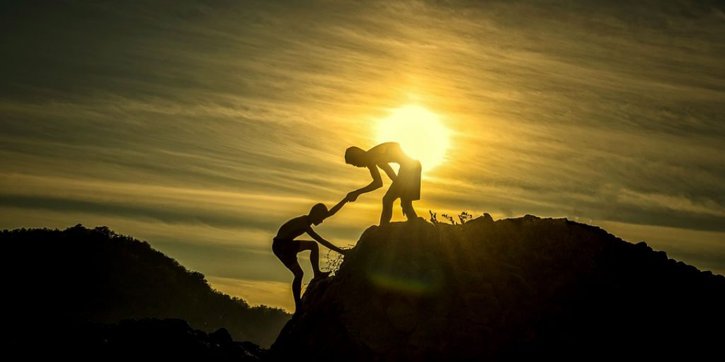 Helping someone will start to make you see a change in yourself.