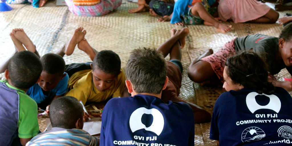 Volunteer to work with children in Fiji.