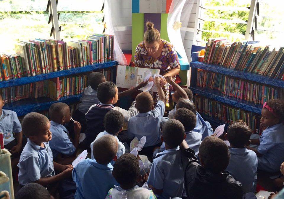 Building a school library in Fiji