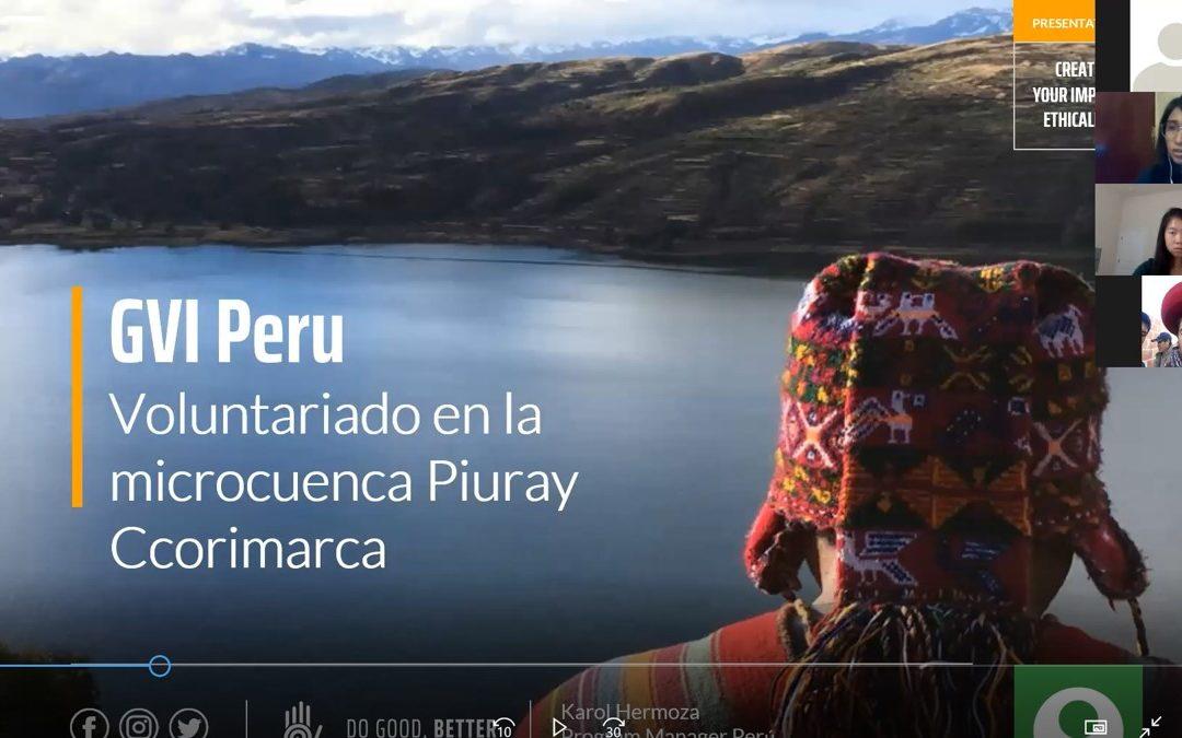 Meeting GVI Peru Volunteers and Community Members Online